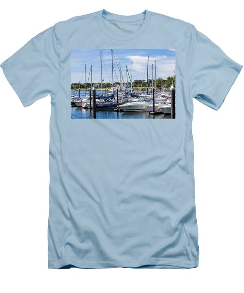 New Hampshire Marina Men's T-Shirt (Athletic Fit)