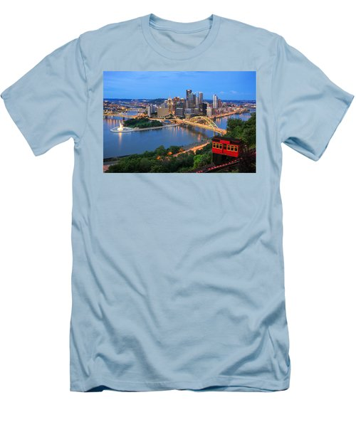 Pittsburgh Summer  Men's T-Shirt (Athletic Fit)