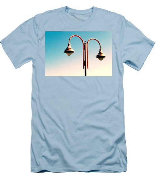 Beach Lamp Post Men's T-Shirt (Slim Fit) by Valerie Reeves
