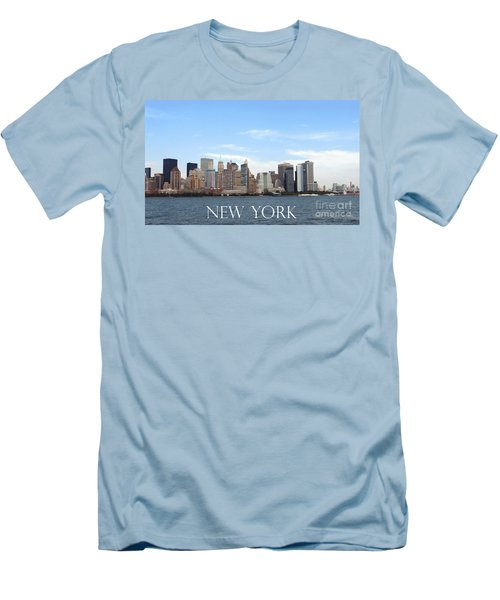 Men's T-Shirt (Athletic Fit) featuring the photograph New York As I Saw It In 2008 by Ausra Huntington nee Paulauskaite