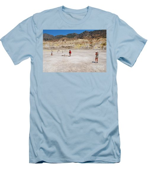 Nisyros Volcano Greece Men's T-Shirt (Athletic Fit)
