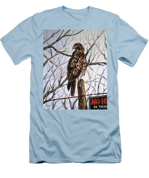 Men's T-Shirt (Slim Fit) featuring the painting No Hunting by Craig T Burgwardt