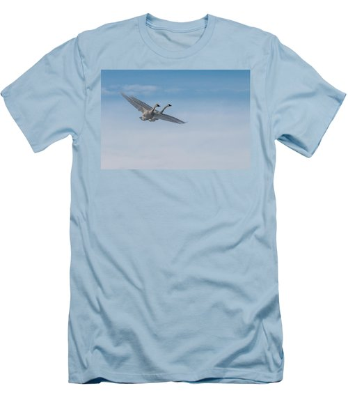 Trumpeter Swans Tandem Flight Men's T-Shirt (Athletic Fit)