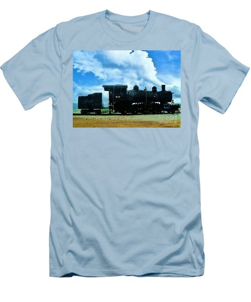 Norfolk Western Steam Locomotive 917 Men's T-Shirt (Athletic Fit)