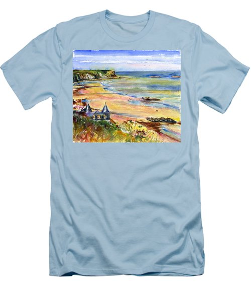 Normandy Beach Men's T-Shirt (Athletic Fit)