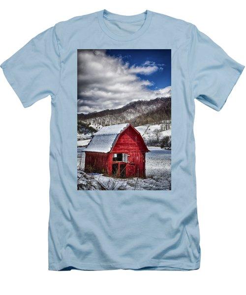 North Carolina Red Barn Men's T-Shirt (Slim Fit) by John Haldane