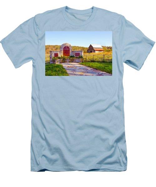 Men's T-Shirt (Slim Fit) featuring the photograph Landscape Barn North Georgia by Vizual Studio