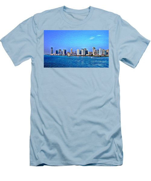 Men's T-Shirt (Slim Fit) featuring the photograph Nyc  The Big Apple  by Judy Palkimas