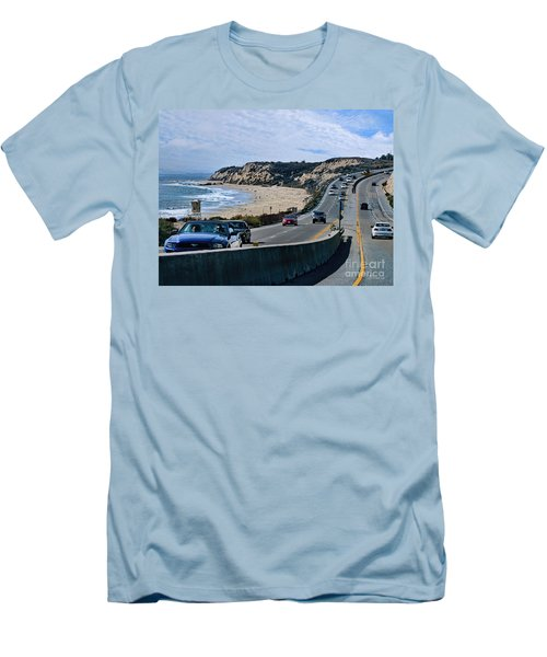 Oc On Pch In Ca Men's T-Shirt (Slim Fit) by Jennie Breeze