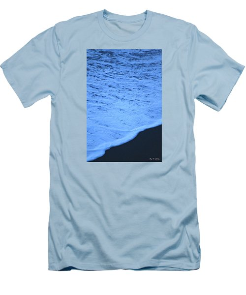 Men's T-Shirt (Slim Fit) featuring the photograph Ocean Blues by Amy Gallagher