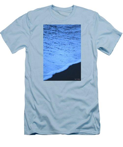 Ocean Blues Men's T-Shirt (Slim Fit) by Amy Gallagher