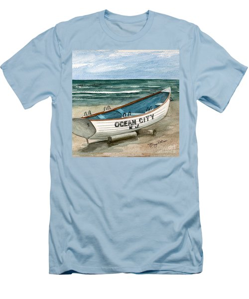 Ocean City Lifeguard Boat 2  Men's T-Shirt (Athletic Fit)