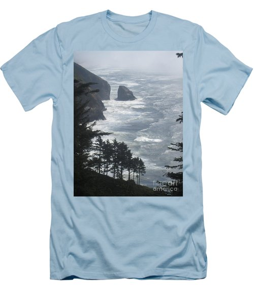 Ocean Drop Men's T-Shirt (Slim Fit) by Fiona Kennard