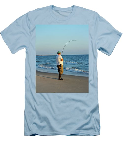 Men's T-Shirt (Slim Fit) featuring the photograph Ocean Fishing by Cynthia Guinn