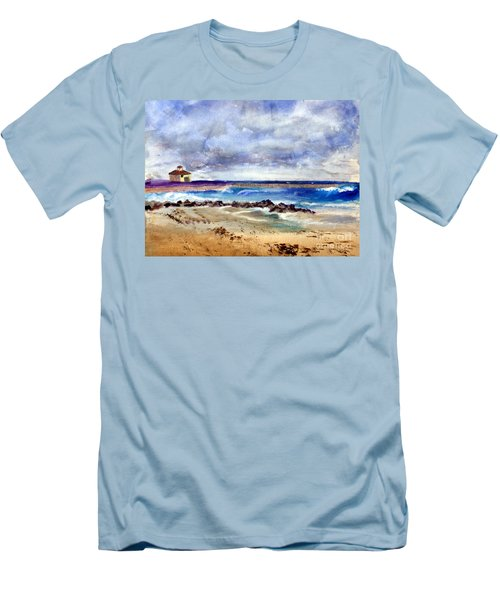 Ocean  Inlet Beach In Boynton Beach Men's T-Shirt (Slim Fit) by Donna Walsh