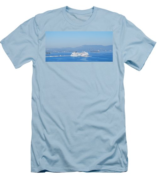 Ocean Liners In Corfu Men's T-Shirt (Athletic Fit)