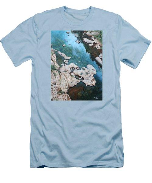 Ocoee River Low Tide Men's T-Shirt (Slim Fit) by Mike Ivey