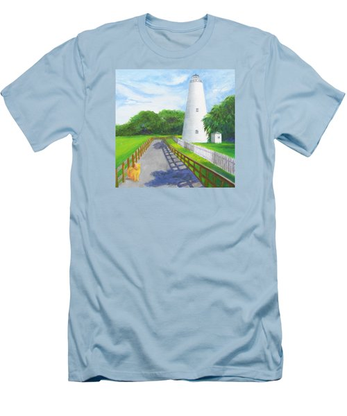 Ocracoke And Friend Men's T-Shirt (Slim Fit) by Anne Marie Brown