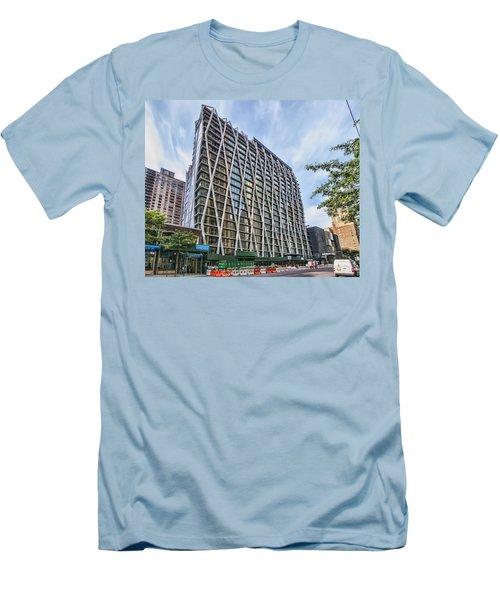 Oct 2014 Front View Men's T-Shirt (Slim Fit) by Steve Sahm