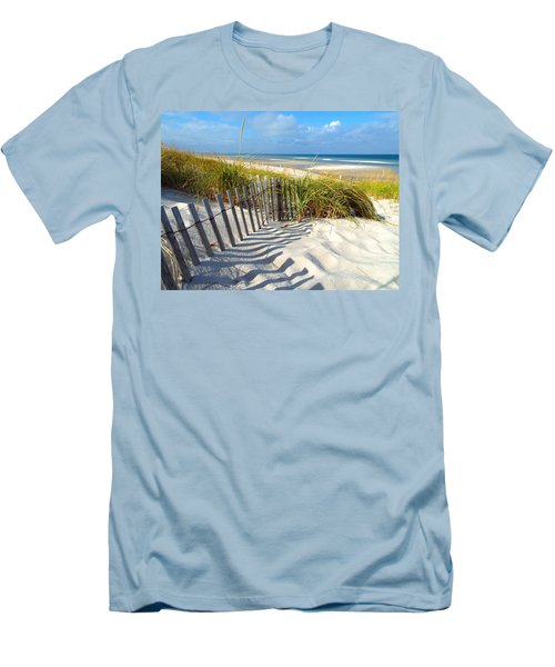 Men's T-Shirt (Slim Fit) featuring the photograph October Beach by Dianne Cowen