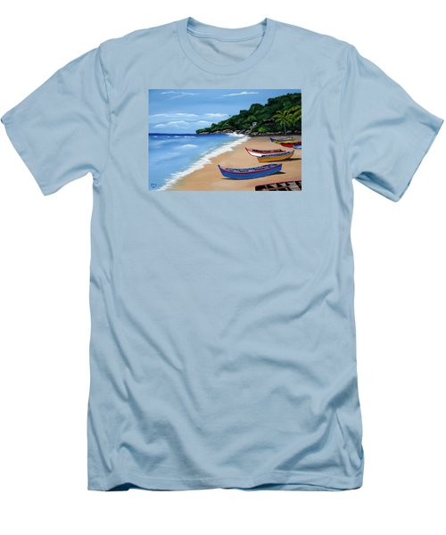 Olas De Crashboat Men's T-Shirt (Slim Fit) by Luis F Rodriguez
