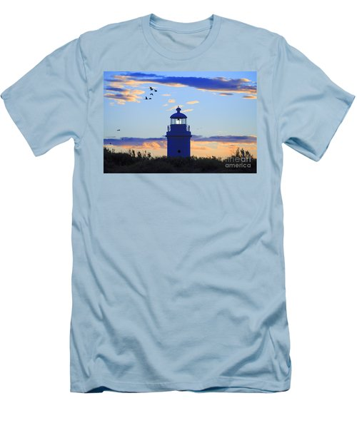 Old Lighthouse Men's T-Shirt (Slim Fit) by Bernardo Galmarini
