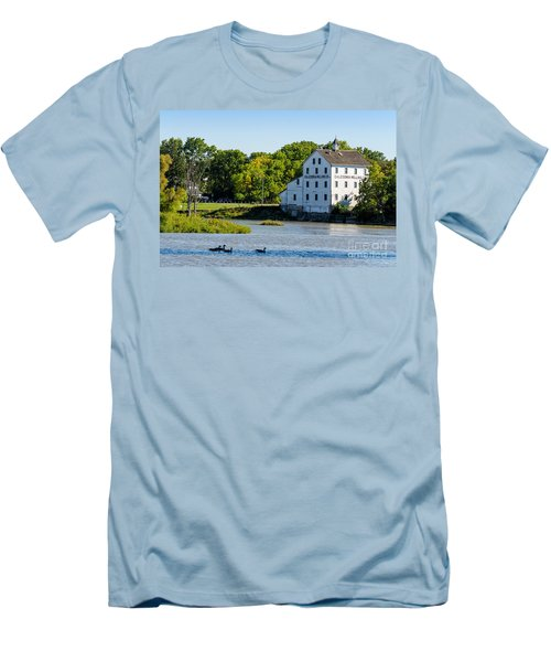 Old Mill On Grand River In Caledonia In Ontario Men's T-Shirt (Athletic Fit)