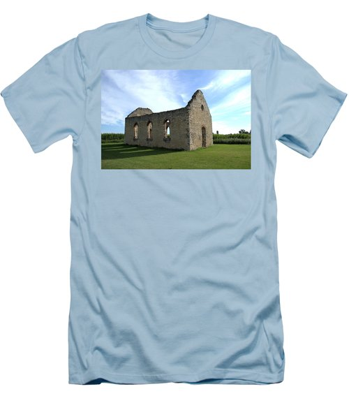 Old Stone Church 2 Men's T-Shirt (Slim Fit) by Bonfire Photography