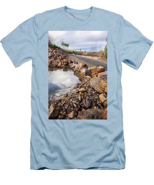On Frozen Pond Collection 6 Men's T-Shirt (Slim Fit) by Roxy Hurtubise