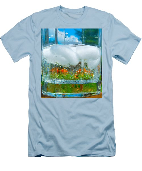 On The Rocks Men's T-Shirt (Slim Fit) by Pamela Clements