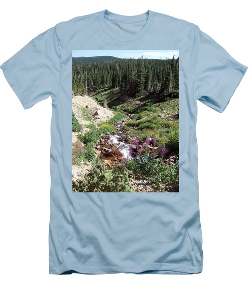 On Top Of The Continental Divide In The Rocky Mountains Men's T-Shirt (Athletic Fit)