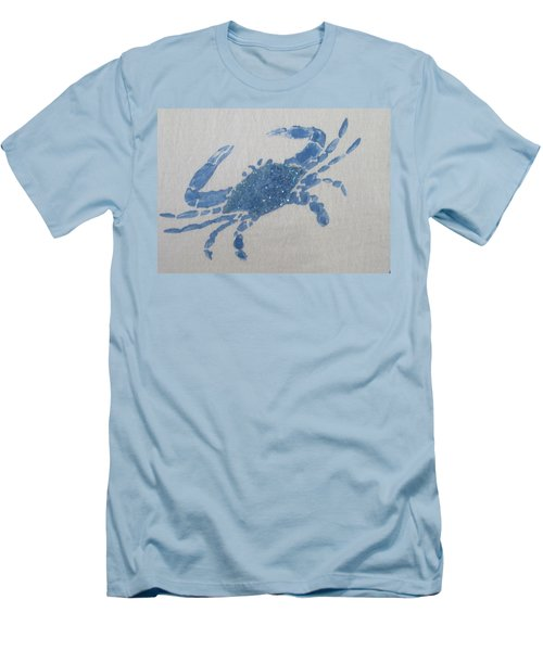 One Blue Crab On Sand Men's T-Shirt (Athletic Fit)