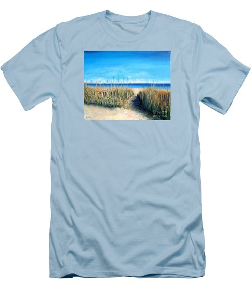 Open Invitation Men's T-Shirt (Slim Fit) by Laurie Morgan