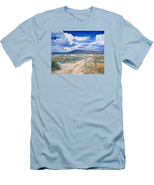 Osceola Nevada Ghost Town Men's T-Shirt (Slim Fit) by Donna Tucker