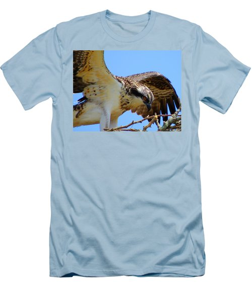 Men's T-Shirt (Slim Fit) featuring the photograph Osprey Youth by Dianne Cowen