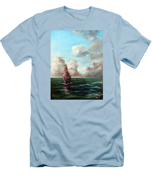 Outrunning The Storm Men's T-Shirt (Slim Fit) by Lee Piper