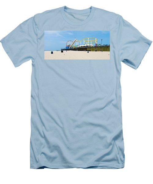 Pacific Park, Santa Monica Pier, Santa Men's T-Shirt (Athletic Fit)
