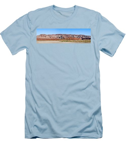 Men's T-Shirt (Slim Fit) featuring the photograph Painted Desert Mountain by Daniel Hebard
