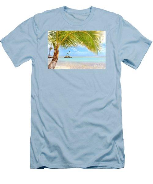 Palm Tree Men's T-Shirt (Slim Fit) by Kristine Merc
