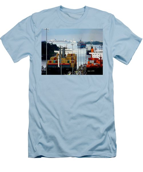 Panama Express Men's T-Shirt (Slim Fit) by Karen Wiles