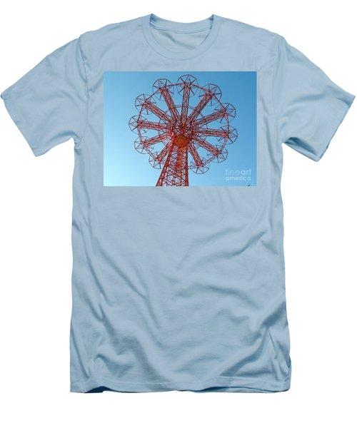 Men's T-Shirt (Slim Fit) featuring the photograph Parachute Jump-coney Island by Ed Weidman