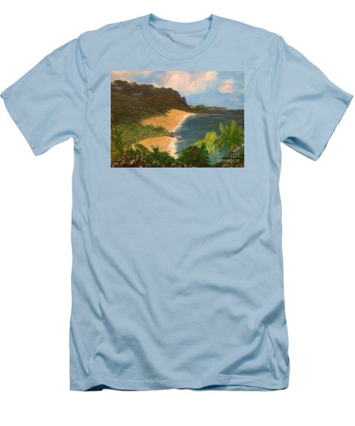 Men's T-Shirt (Slim Fit) featuring the painting Paradise by Vanessa Palomino