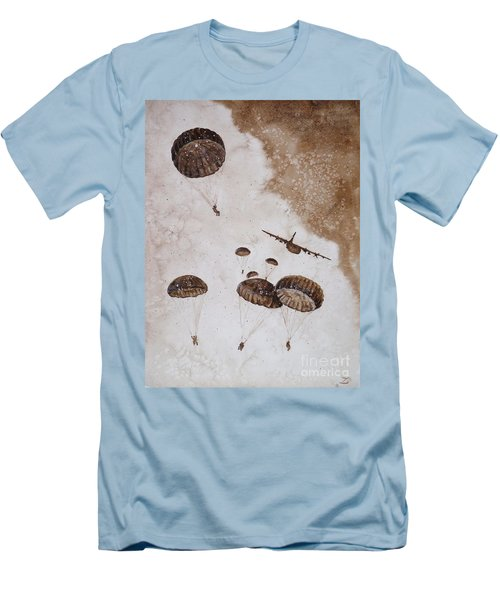 Paratroopers Men's T-Shirt (Slim Fit) by Zaira Dzhaubaeva