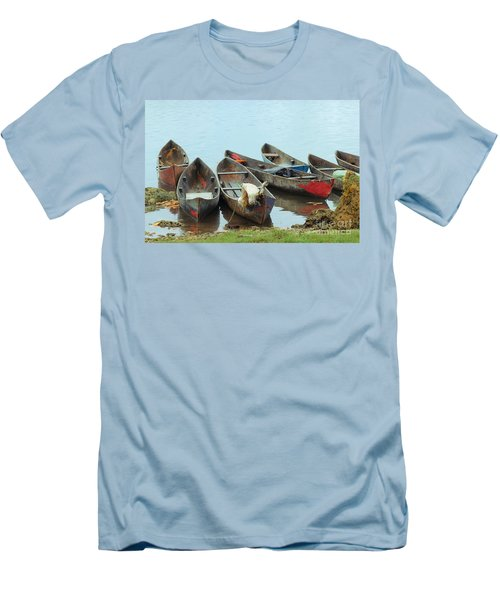 Parking Boats Men's T-Shirt (Athletic Fit)