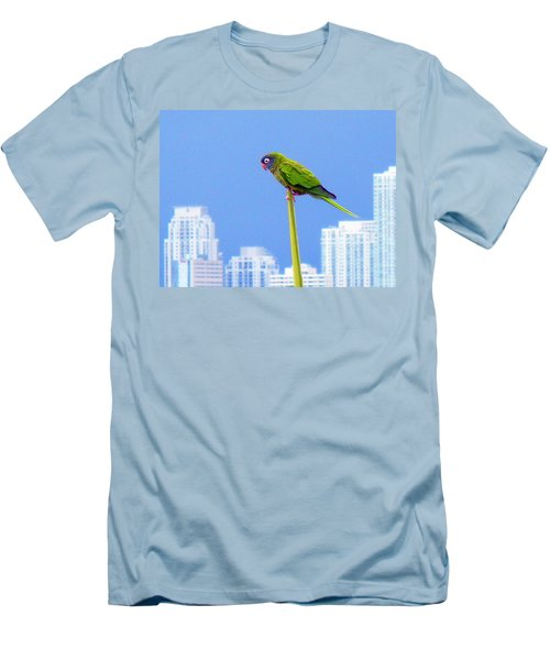 Men's T-Shirt (Slim Fit) featuring the photograph Parrot by J Anthony