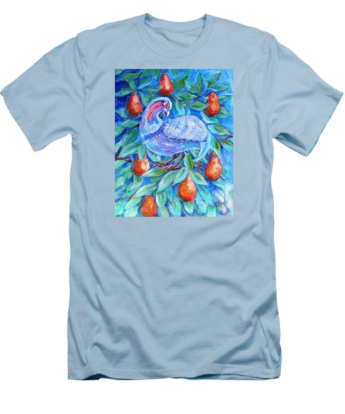 Partridge In A Pear Tree  Men's T-Shirt (Slim Fit) by Trudi Doyle