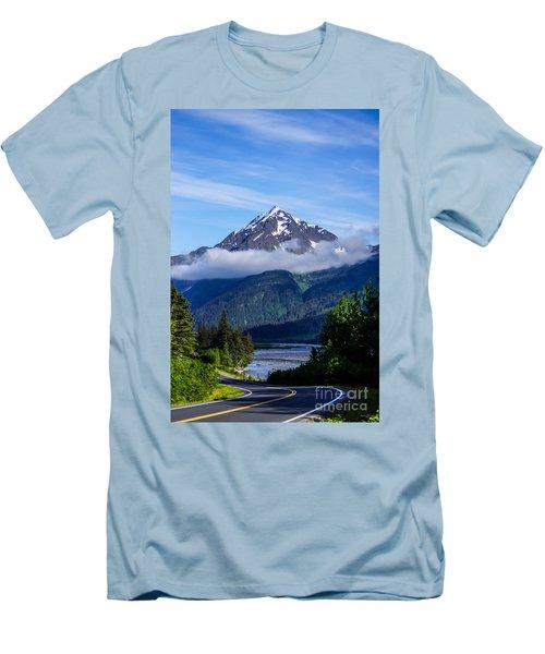 Path Through Alaska Men's T-Shirt (Athletic Fit)