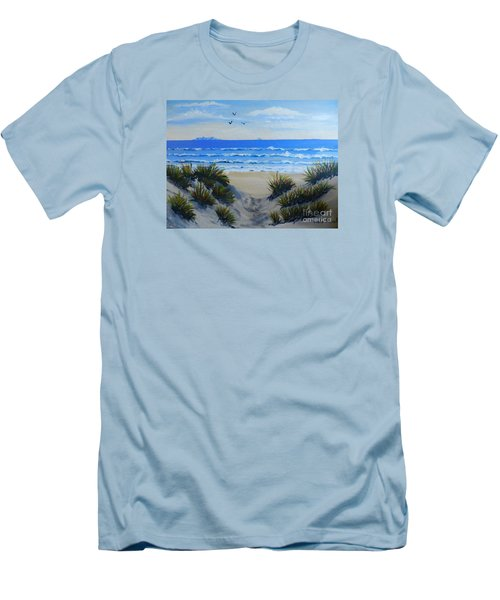 Path Through The Sand Dunes Men's T-Shirt (Slim Fit)