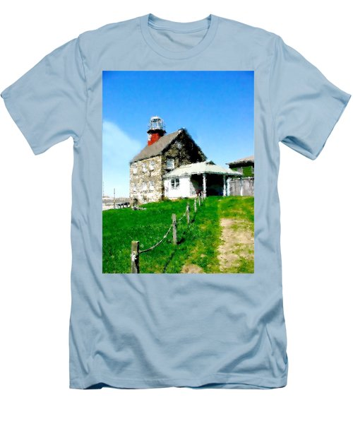 Pathway To Happiness  Men's T-Shirt (Slim Fit) by Iconic Images Art Gallery David Pucciarelli