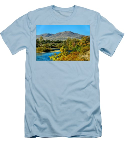 Payette River And Squaw Butte Men's T-Shirt (Athletic Fit)